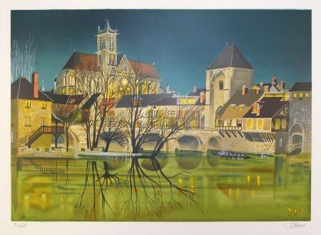 Litografía Lecoindre - Sur les bords du fleuve
