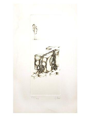 Litografía Deux - Surréalisme Gris IV