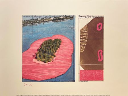 Litografía Christo - Surronded islands, Miami