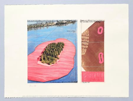 Litografía Christo - 'Surrounded islands, project for Biscane Bay'