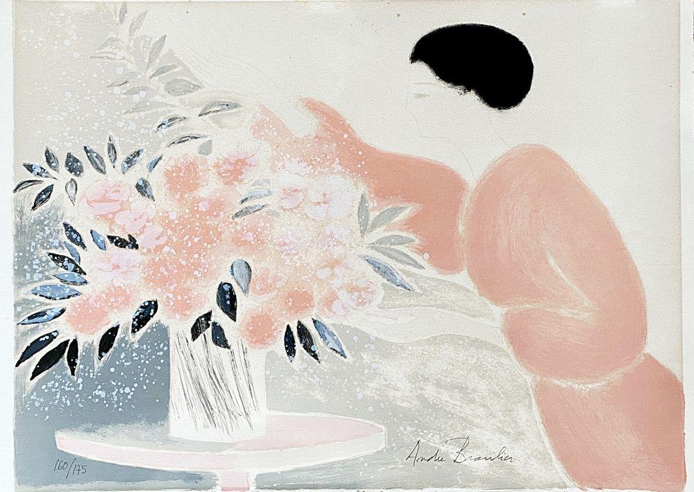 Litografía Brasilier - Symphonie en Rose