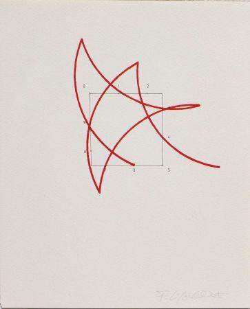 Litografía Morellet - SYSTEMES, HASARD ET TELEPHONE