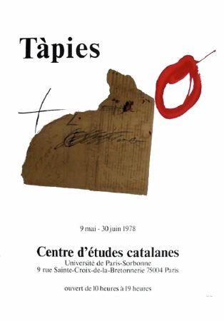 Cartel Tàpies - TÀPIES 78. Affiche pour une exposition à La Sorbonne, Paris.