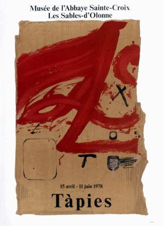 Cartel Tàpies - TÀPIES 78. Affiche pour une exposition à l'Abbaye de Sainte Croix.