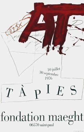 Cartel Tàpies - TÀPIES Expo 76 - Fondation Maeght