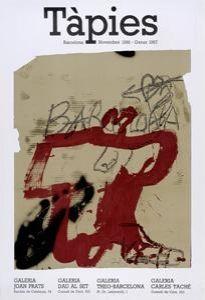 Cartel Tàpies - Tàpies. Barcelona Novembre 1986 - Gener 1987