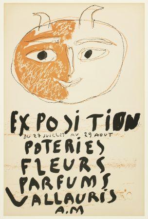 Litografía Picasso - Tête de Faune (Exposition Poteries Fleurs Parfums Vallauris A.M)