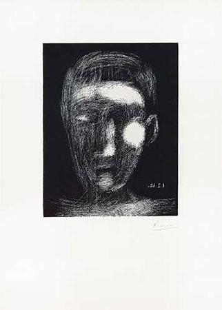Linograbado Picasso - Tête De Garçon