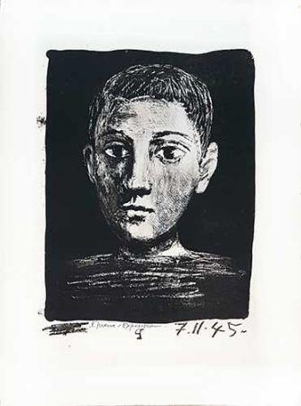 Litografía Picasso - Tête de jeune garçon