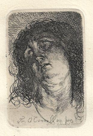 Grabado O'connell - Tête de Sainte-Madeleine
