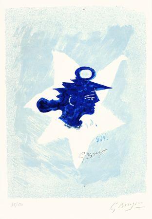 Litografía Braque - Tête grecque (Grecian Head)