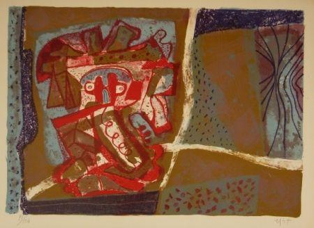 Litografía Nieto - Tête rouge