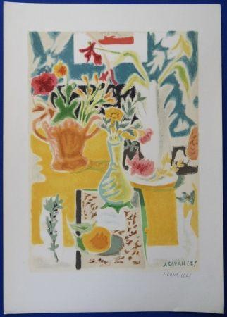 Litografía Cavailles - Table fleurie