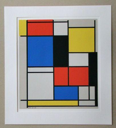 Serigrafía Mondrian - Tableau II. - 1921/25