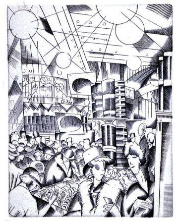 Libro Ilustrado Laboureur - Tableaux contemporains:  Tableau des Courses, de la Boxe, de la Venerie, de l'Amour Venal, des Grands Magasins, de la Mode, de l'Au-Delà, du Palais, de la Bourgeoisie