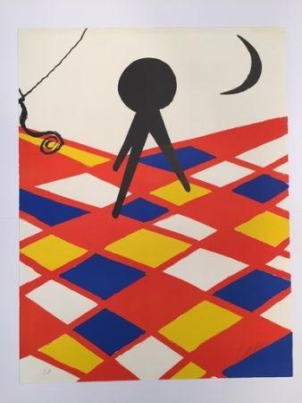 Litografía Calder - Tabouret à trois pieds