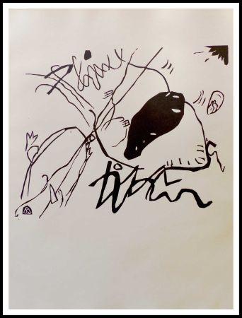 Grabado En Madera Kandinsky - TACHE NOIRE