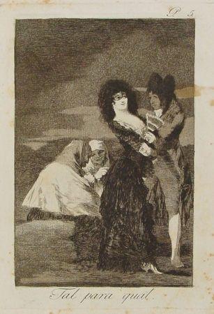 Grabado Goya - Tal para cual