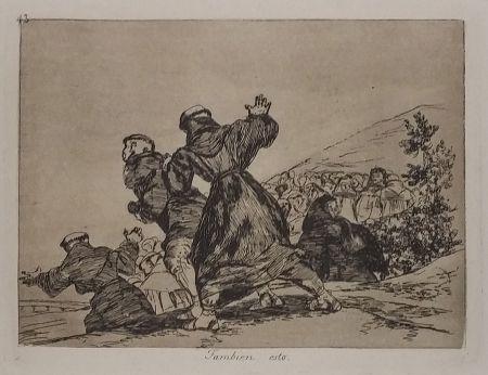 Grabado Goya - TAMBIEN ESTO