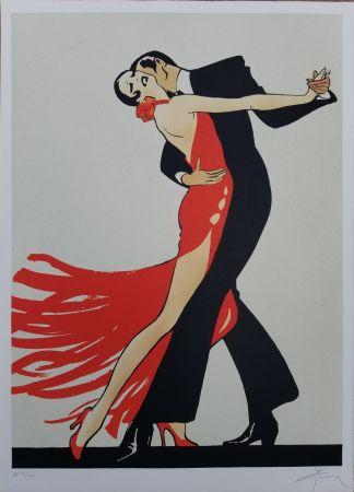 Litografía Gruau - Tango