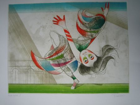 Aguafuerte Y Aguatinta Finsterer - Tanz der Salome