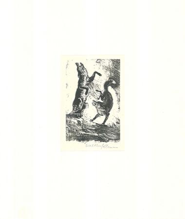 Grabado En Madera Klemm - Tanz der Tiere