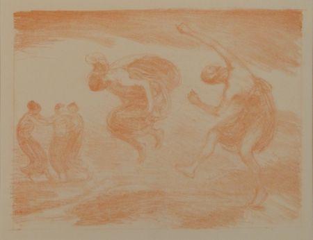 Litografía Hofmann - Tanzende Mädchen (Springende Mädchen)