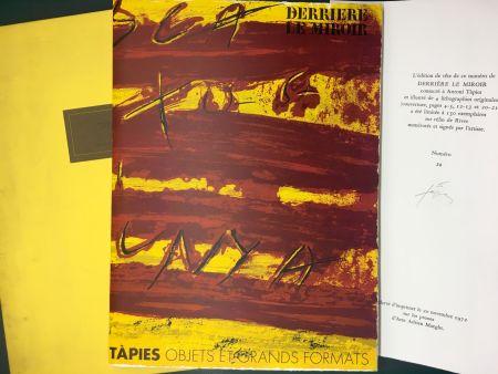 Libro Ilustrado Tàpies - TAPIES : Objets et grands formats. DERRIÈRE LE MIROIR N° 200. 1972 - DE LUXE SIGNÉ.