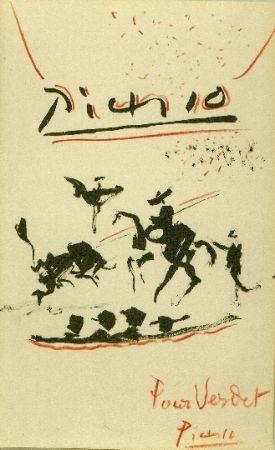 Litografía Picasso - Tauromachie