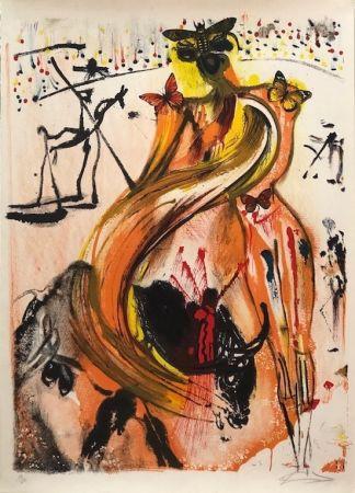 Litografía Dali - Tauromaquia con mariposas