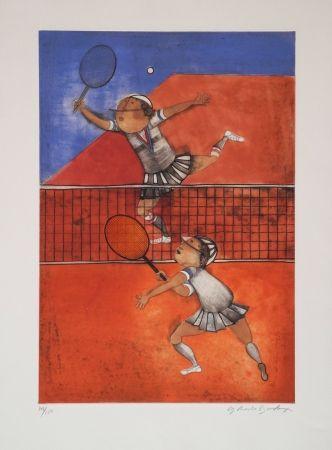 Aguafuerte Boulanger - Tennis