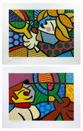 Serigrafía Britto - TENNIS SUITE (EMBELLISHED)