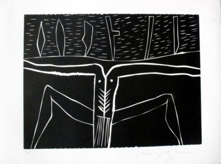 Linograbado Paladino - Terra tonda africana 4