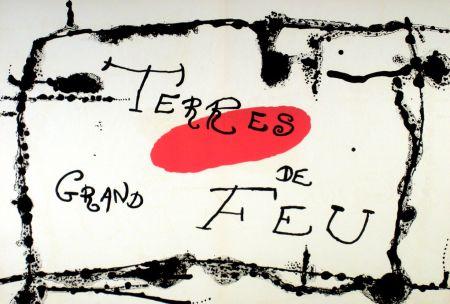 Litografía Miró - Terres de grand feu