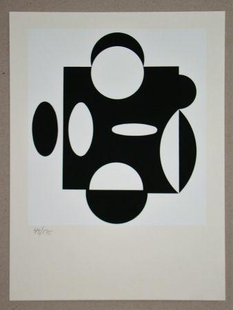 Serigrafía Vasarely - Terreur