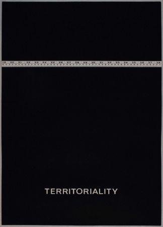 Litografía Agnetti - Territoriality from 'Spazio perduto e spazio costruito' portfolio, Plate H
