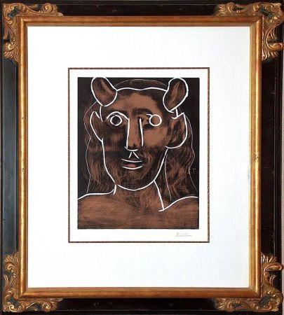 Linograbado Picasso - Tete De Faune (B. 1094)