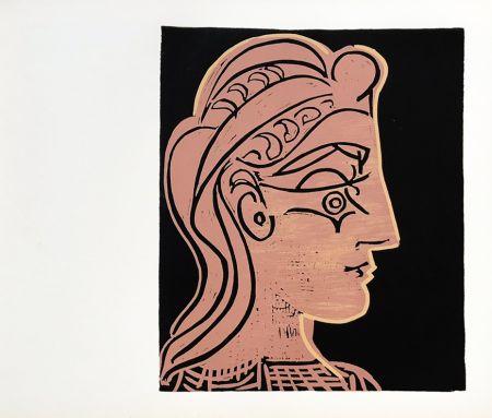 Linograbado Picasso (After) - Tete de Feamme