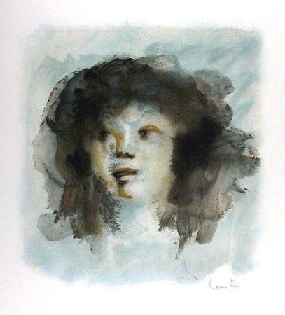 Litografía Fini - Tete de Jeune Fille