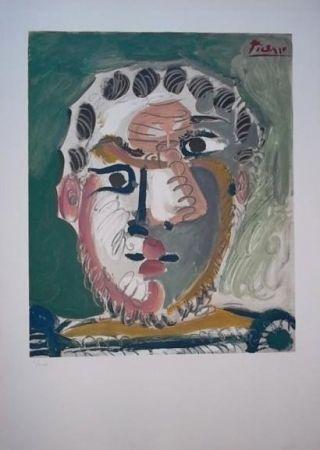 Litografía Picasso - Tete d'homme barbu