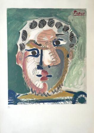 Litografía Picasso - Tete D'homme Bardu