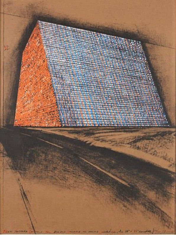 Múltiple Christo - Texas Mastaba, Project for 500,000 stacked oil drums