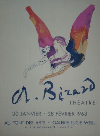 Litografía Berard - Théatre