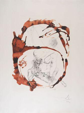 Aguafuerte Y Aguatinta Dali - Thésée et le Minotaure - Theseus and the Minotaur (suite Mythologie/The Mythology)