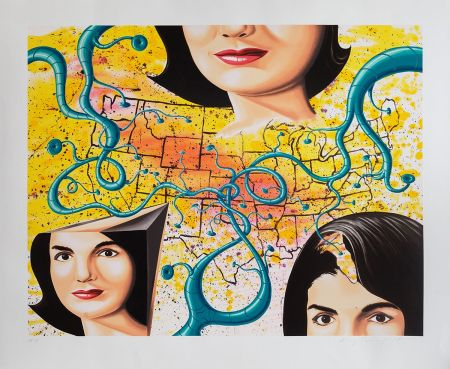 Serigrafía Scharf - THE 3 FACES OF JACKIE THE AMERICAN