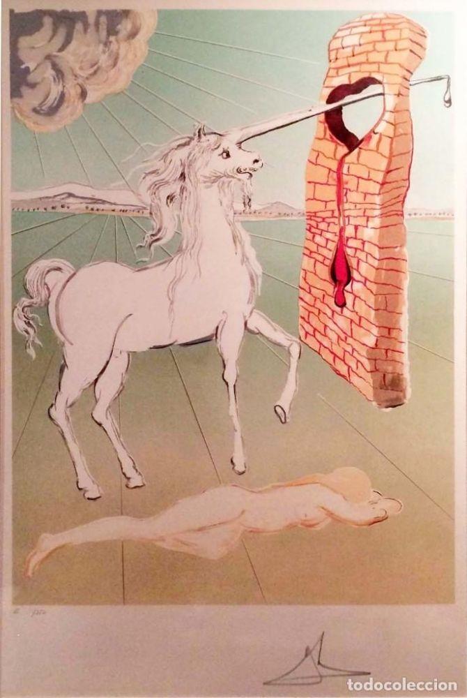 Litografía Dali - The agony of love