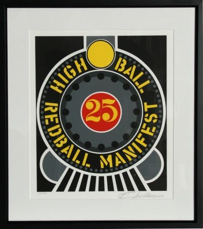 Serigrafía Indiana - The American Dream: High Ball Redball Manifest