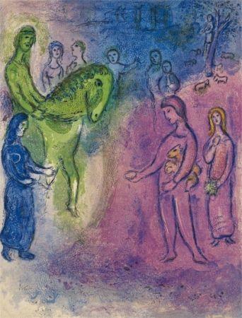Litografía Chagall - The Arrival of Dionysophane