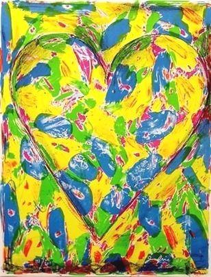 Litografía Dine - The Blue Heart