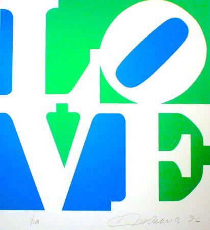 Litografía Indiana - The Book Of Love #8 (Green/blue)